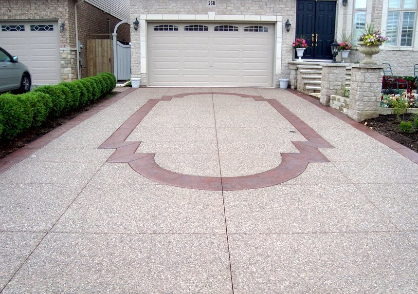 Aggregate driveway custom border